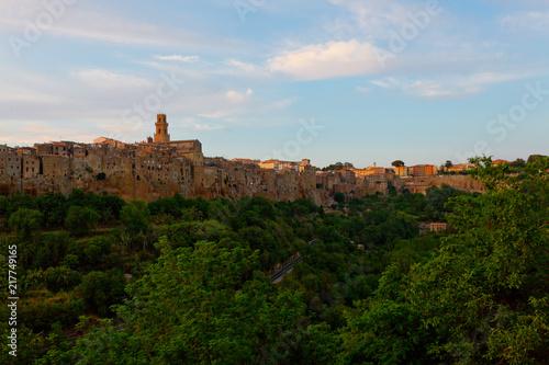 Fotobehang Toscane Pitigliano, Italien