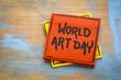 World Art Day - reminder note