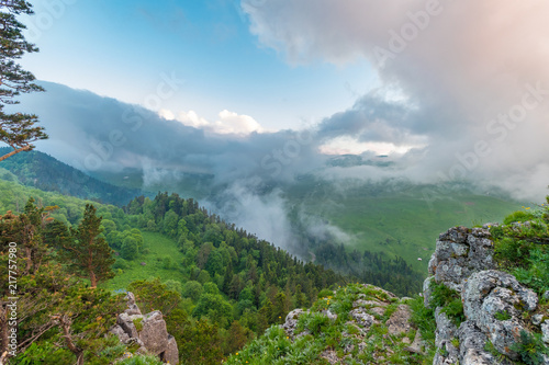 Foto Murales Landscape on a slope of mountain top