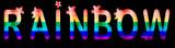 Rainbow - inscription in rainbow letters, lgtb concept