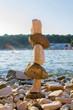 Quadro Stones Stacked on the sea