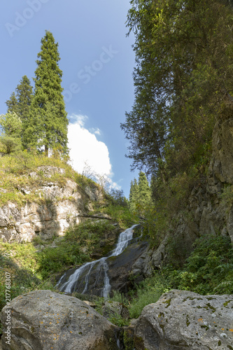 Mountain river in Almaty city - 217768307