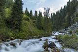 Mountain river in Almaty city