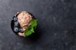 Leinwanddruck Bild - Ice cream with berries