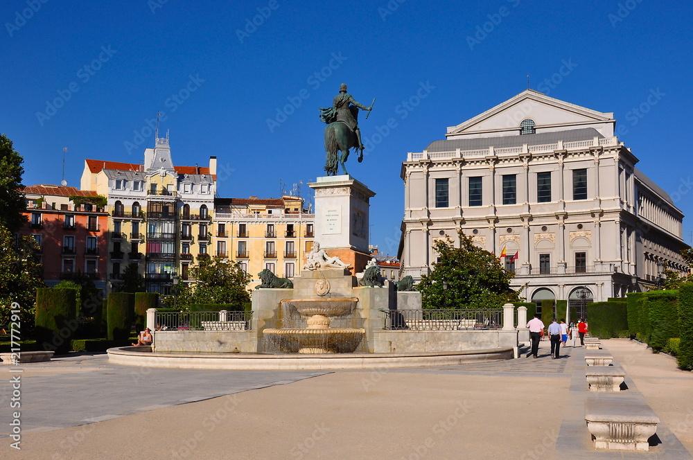 Naklejka Na Sciany I Meble Eastern Square Plaza De Oriente And