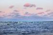 Quadro A colorful winter sunset in the open Baltic sea