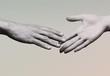 Shake hands on background