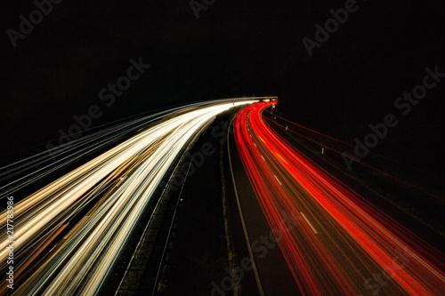 In de dag Nacht snelweg Lichtspur