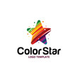 colorful star logo - 217797995