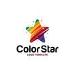 colorful star logo - 217797995