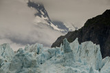 Glacial Ice and Rugged Mountains, Marjerie Glacier, Alaska