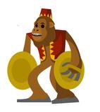 happy circus monkey
