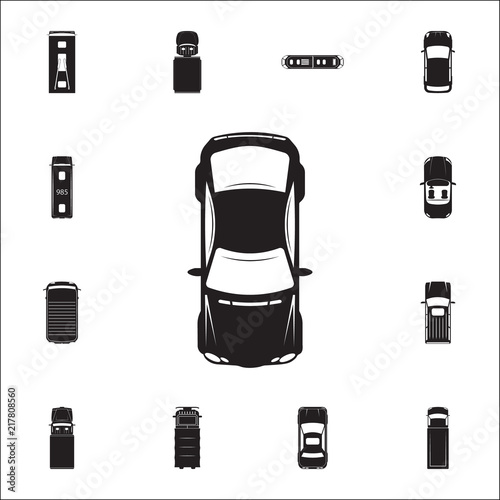 Sport Car Icon Detailed Set Of Transport View From Above Icons