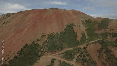 Corkscrew Gulch Pass Red Mountain no 1 Colorado Aerial