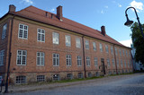 An ancient city, located inside an old fortress. Preserved style and architecture of antiquity. Historical town Fredrikstad.Named after the Danish King Fredericks II. - 217814735