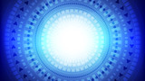 Abstract blue light and shade creative technology background. Vector illustration. - 217817348