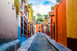 Color street at San Miguel de Allende in Mexico.