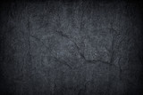 Fototapeta Kamienie - Dark grey black slate background or texture © prapann
