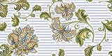 seamless vintage pattern with  decorative gold  flowers  - 217821981