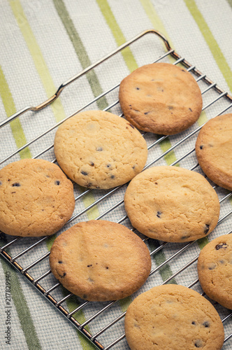 Foto Murales tasty oat cookie on grill tray