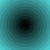 Kreise mit Farbverlauf schwarz blau türkis - 217836136