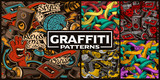 Fototapeta Młodzieżowe - Set of seamless patterns with graffiti art © Harry Kasyanov