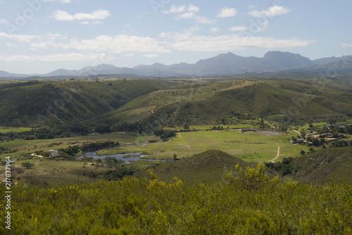 Canvas Blauwe hemel Landscape South Africa