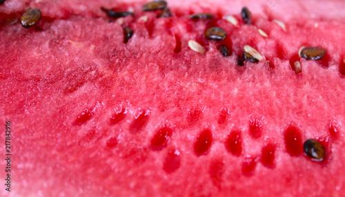 Ripe red watermelon background - 217842916