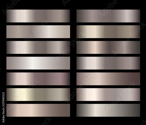 Metal gold bronze foil texture gradients vector