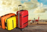 Large suitcases on background,travel concept - 217849395