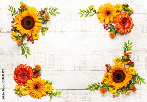 Foto Murales Autumnal flowers