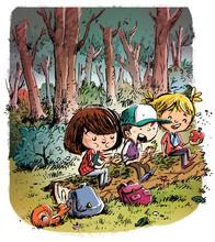 Niños De Excursion  Sticker