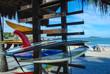 Quadro Surfboard on Ipanema beach, Rio de Janeiro