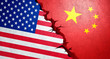Leinwanddruck Bild - Handelskrieg USA China