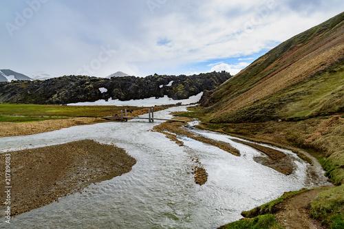 Canvas Blauwe hemel landscapes of Iceland