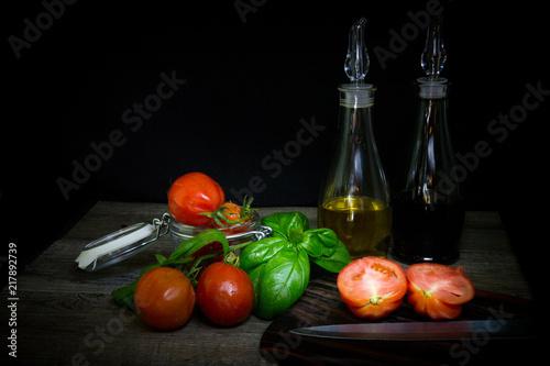 Foto Murales tomato ingredient salad