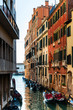 Quadro Beautiful view of water street and old buildings in Venice, ITALY