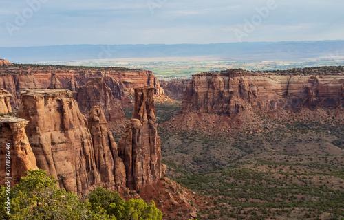 Canvas Blauwe hemel Colorado National Monument Landscape