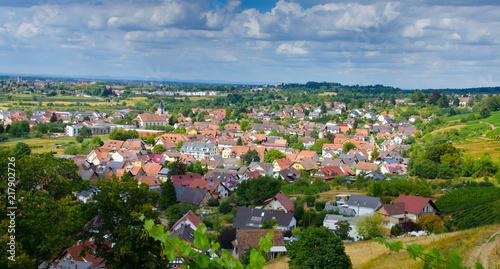 Naklejka Blick auf Ortenberg im Kinzigtal