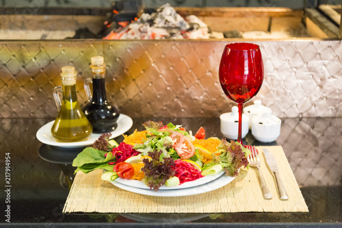traditional Turkish salad concept for restaurants and cafes - 217914954