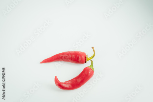 Foto Spatwand Hot chili peppers Chili pepper on white background
