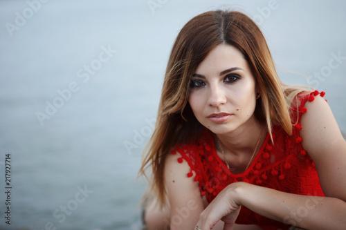 Foto Murales Beautiful Young woman.