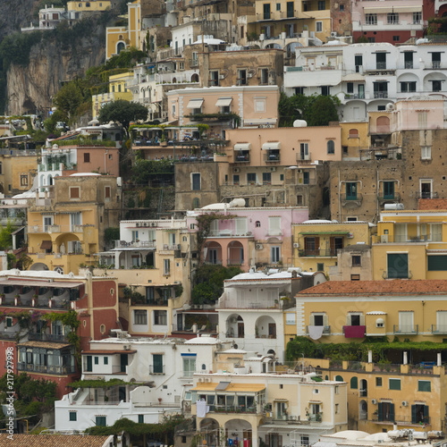 Fridge magnet Residential buildings on hill, Positano, Amalfi Coast, Salerno, Campania, Italy