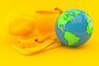 Culinary background with world globe