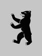 Berlin coat of arms. German bear