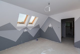 Children room interior with mountain paint - 217935553