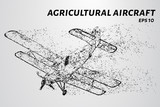Agricultural aircraft of particles.