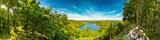 Panorama of the Rursee in the Eifel in summer