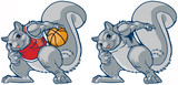 Muscular Squirrel Mascot Basketball Player Vector Cartoon - 217978745