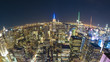 Quadro New York City at night, fisheye view